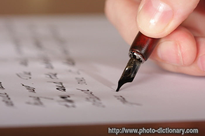 writing a letter - photo/picture definition - writing a letter word and phrase image