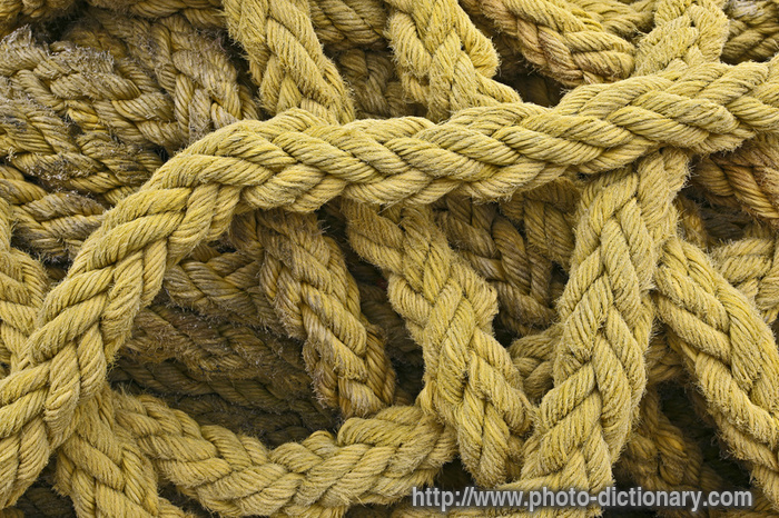 natural fiber rope - photo/picture definition at Photo
