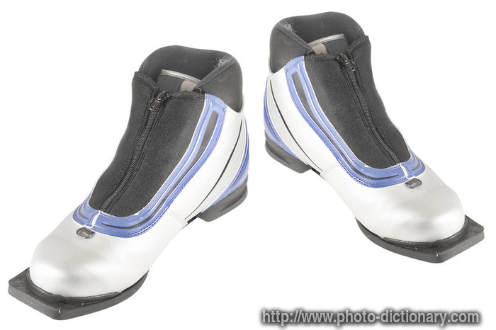 ski shoes - photo/picture definition - ski shoes word and phrase image