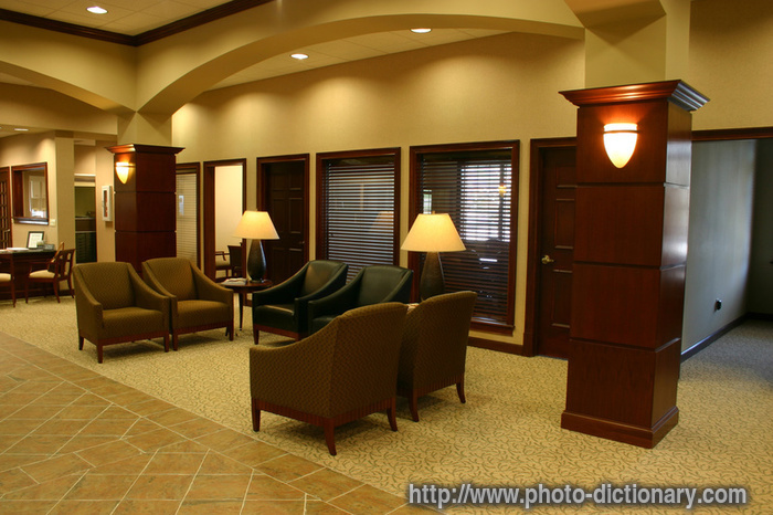 Office Foyer Meaning : Office lobby photo picture definition at
