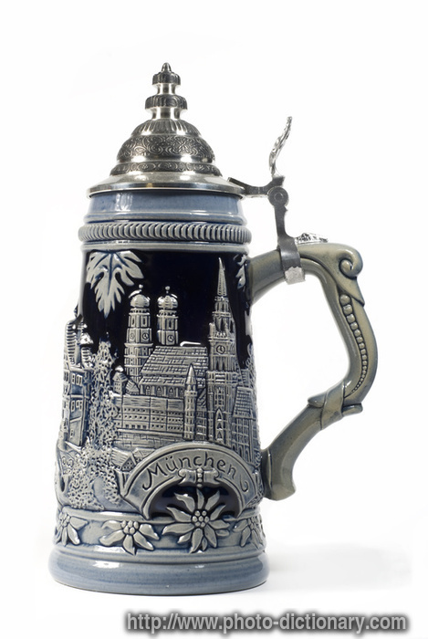 german beer stein photo picture definition at photo dictionary
