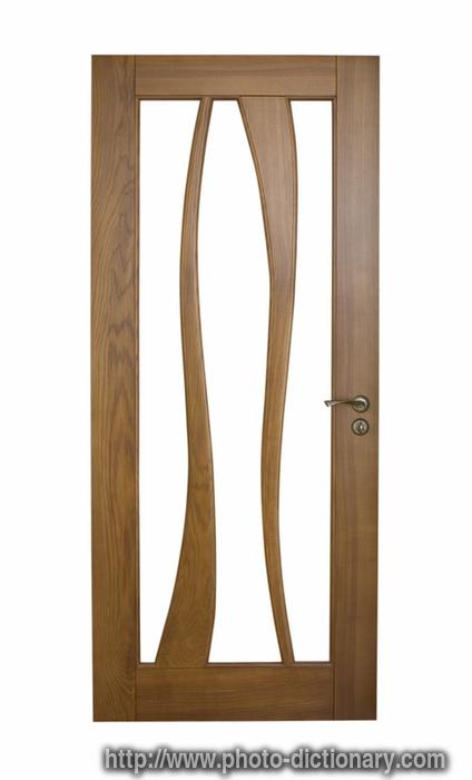 wooden door - photo/picture definition - wooden door word and phrase image