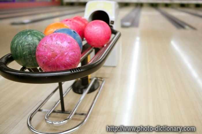 Bowling Balls Photopicture Definition At Photo Dictionary Mesmerizing Bowling Ball Display Stand
