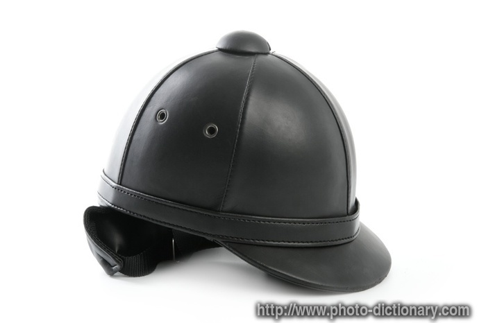 riding cap - photo picture definition at Photo Dictionary - riding ... 3d831461dbcd
