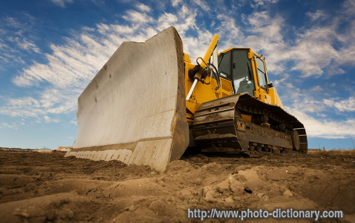 bulldozer - photo  picture definition at photo dictionary