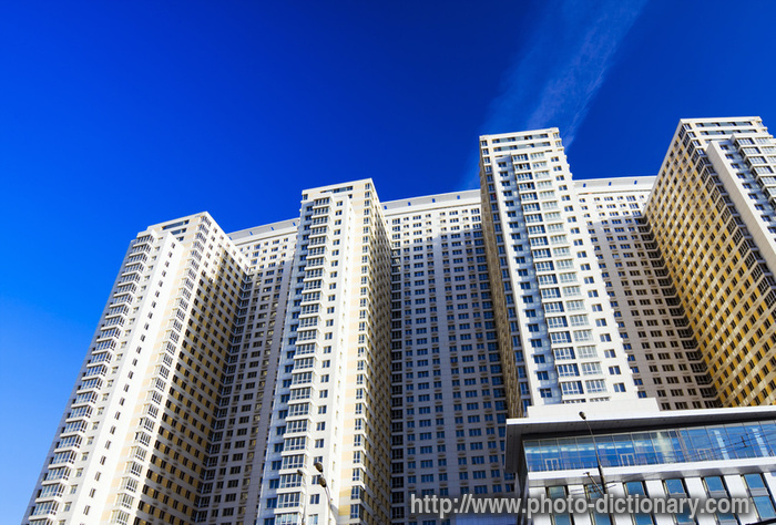 High rise building photo picture definition at photo for Building dictionary