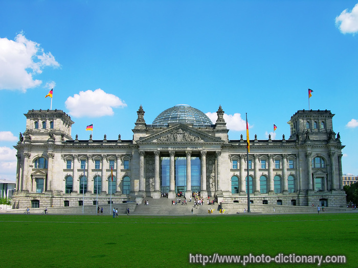 reichstag building photo picture definition at photo dictionary reichstag building word and. Black Bedroom Furniture Sets. Home Design Ideas