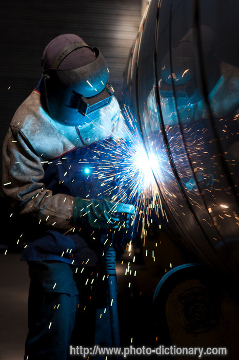 welding photopicture definition welding word and phrase image description of a welder