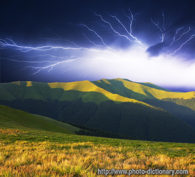 thunder storm - photo/picture definition at Photo ...