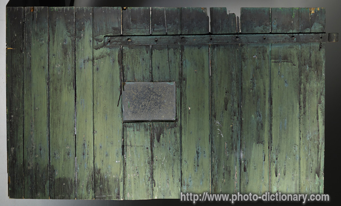 barn door - photo/picture definition at Photo Dictionary ...