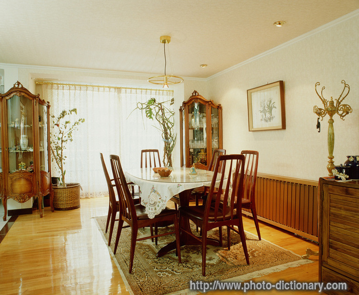 Dining room photo picture definition at photo dictionary for Dining room meaning