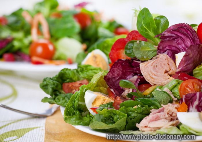 salad nicoise - photo/picture definition - salad nicoise word and ...