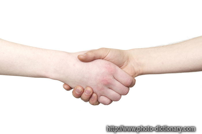 What do shaking hands mean