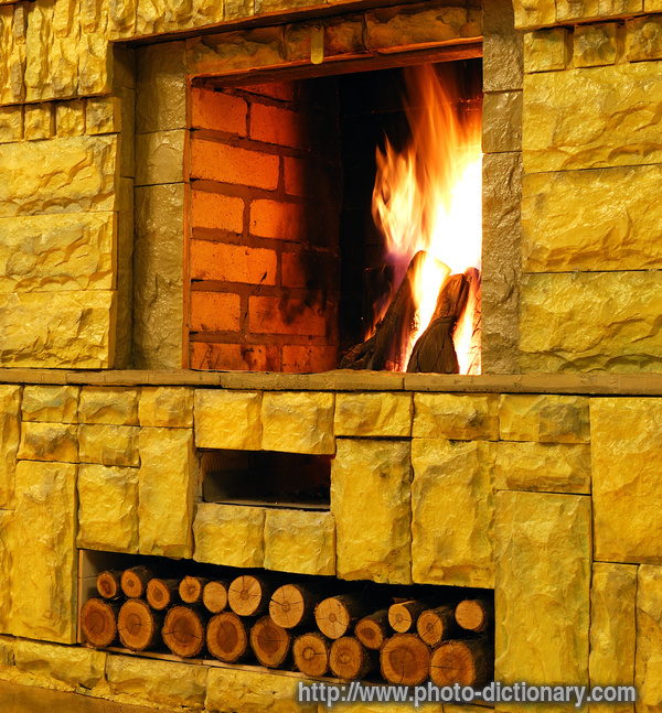 Fireplace Definition: Photo/picture Definition At Photo Dictionary
