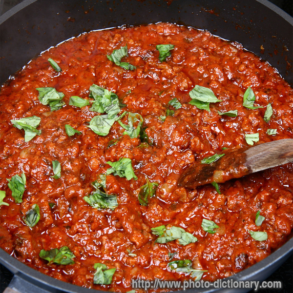 bolognese sauce - photo/picture definition - spaghetti bolognese sauce ...