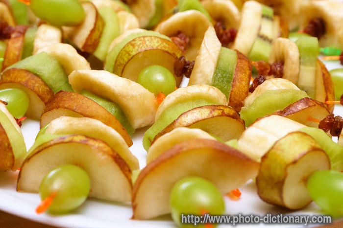 Fruit canapes photo picture definition at photo for Dictionary canape