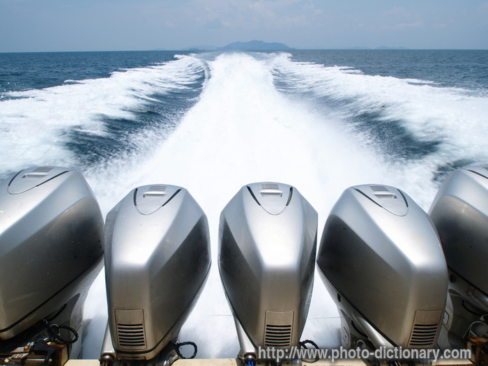 Speed Boat Engines Photo Picture Definition At Photo