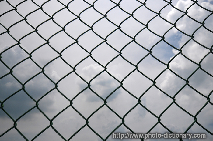 wire mesh fencing - photo/picture definition at Photo Dictionary ...