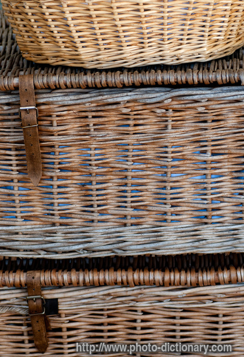 Wicker washing baskets photo picture definition at photo for Wicker meaning