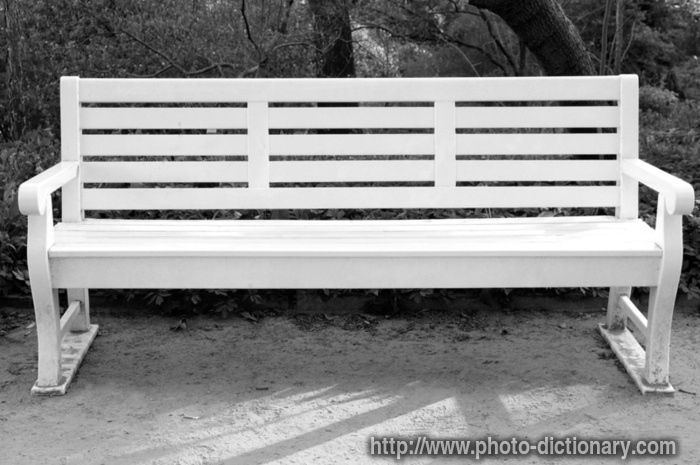 bench chair photo picture definition at Dictionary
