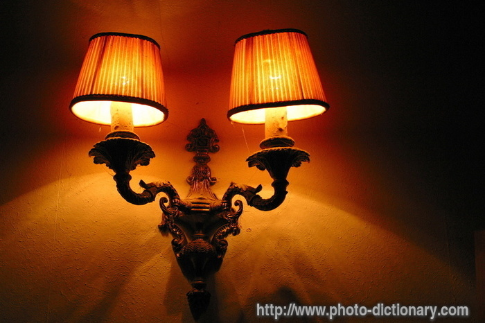 Hallway lamp photo picture definition at photo for Foyer meaning in english