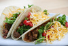 beef tacos - photo/picture definition - beef tacos word and phrase image