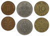 German coins - photo/picture definition - German coins word and phrase image