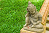sleepy child statue - photo/picture definition - sleepy child statue word and phrase image
