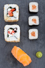 maki and nigiri sushi - photo/picture definition - maki and nigiri sushi word and phrase image