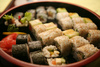 sushi plate - photo/picture definition - sushi plate word and phrase image