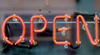 open sign - photo/picture definition - open sign word and phrase image