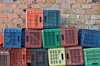 plastic crates - photo/picture definition - plastic crates word and phrase image