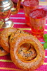 Turkish simit - photo/picture definition - Turkish simit word and phrase image