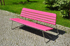 pink bench - photo/picture definition - pink bench word and phrase image
