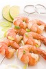 prawn skewer - photo/picture definition - prawn skewer word and phrase image