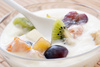 yoghurt with fruits - photo/picture definition - yoghurt with fruits word and phrase image