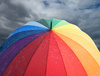 rainbow umbrella - photo/picture definition - rainbow umbrella word and phrase image