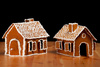 Christmas gingernut houses - photo/picture definition - Christmas gingernut houses word and phrase image