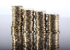 coin piles - photo/picture definition - coin piles word and phrase image