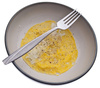 scrambled eggs - photo/picture definition - scrambled eggs word and phrase image