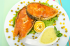 Salmon steaks - photo/picture definition - Salmon steaks word and phrase image