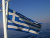 Greek flag - photo/picture definition - Greek flag word and phrase image