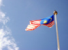 Malaysian flag - photo/picture definition - Malaysian flag word and phrase image