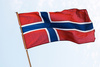 Norwegian flag - photo/picture definition - Norwegian flag word and phrase image