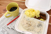 styrofoam meal - photo/picture definition - styrofoam meal word and phrase image