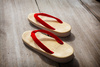 Japanese sandals - photo/picture definition - Japanese sandals word and phrase image