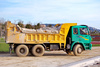 Dump truck - photo/picture definition - Dump truck word and phrase image