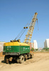 truck crane - photo/picture definition - truck crane word and phrase image