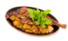 duck with potatoes - photo/picture definition - duck with potatoes word and phrase image