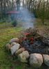 garden bonfire - photo/picture definition - garden bonfire word and phrase image